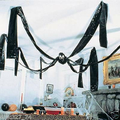 HALLOWEEN Party Decoration Prop Jumbo GIANT HANGING CEILING SPIDER 20 ft Foot
