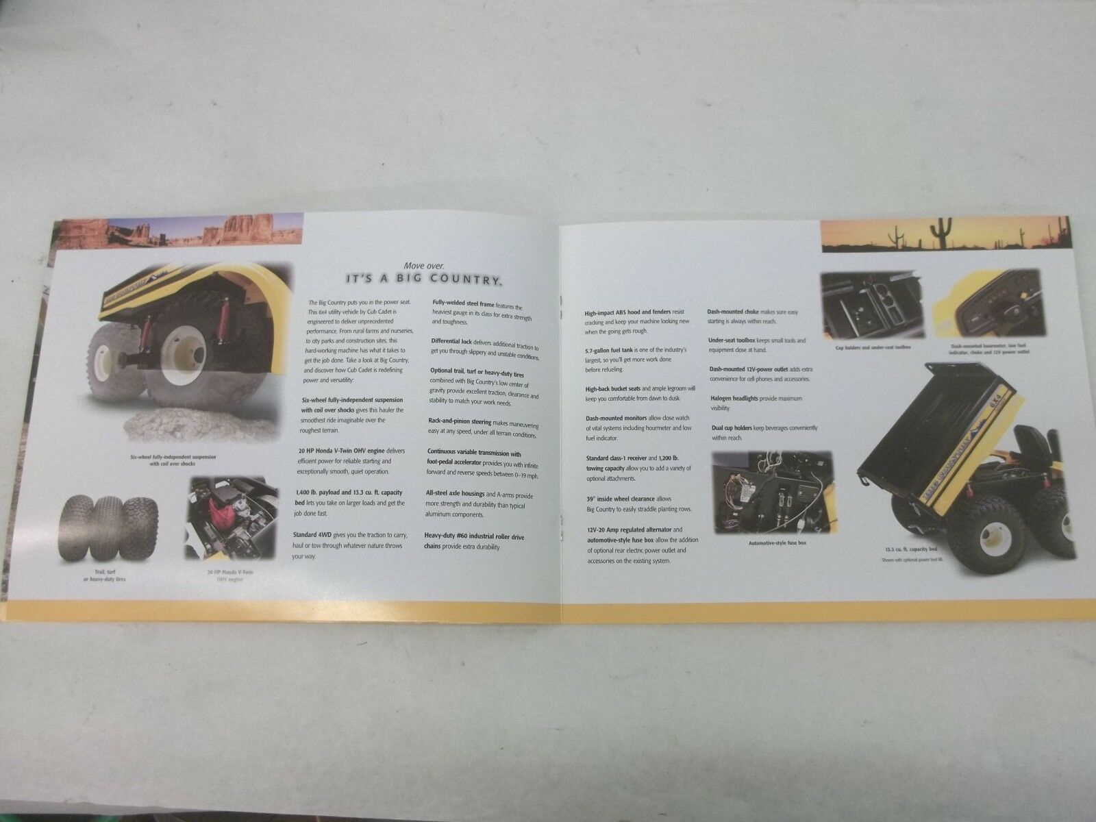 Cub Cadet Big Country 6x4 Model 640 Utility Vehicle Sales Brochure Classic Car Fuse Box Norton Secured Powered By Verisign