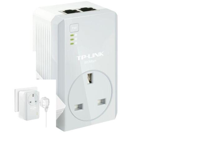 TP-Link TL-PA4020P AV600 Two-Port Powerline Adapter AC Pass Through Single Plug