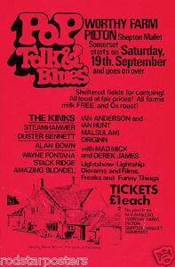 Details about 0511 Vintage Music Poster Art - Pop Folk & Blues Worthy Farm
