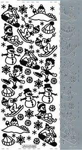 Starform Outline Stickers N° 8516 Homme neige Noël Auto-collants Peel offs