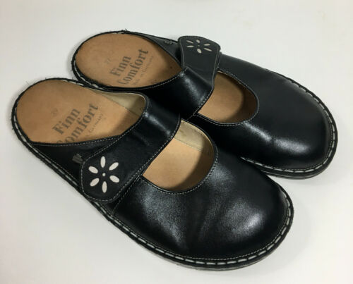 Finn Comfort Mary Jane Mules Clogs Slip On Shoes S