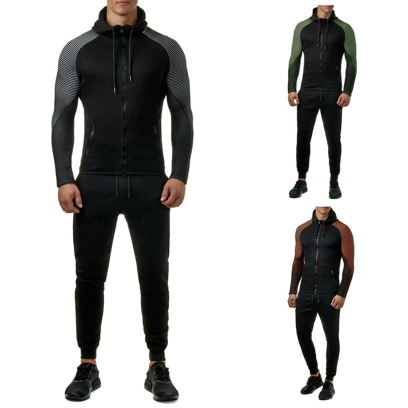 EightyFive EF5018 Herren Jogginganzug Trainingsanzug Jogging Hose Fitness S-XL    | Vielfältiges neues Design