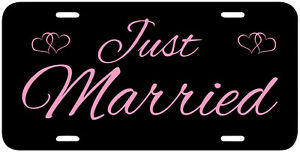 034-Just-Married-034-License-Plate-Wedding-Marriage-YOU-PICK-THE-COLORS