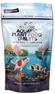 3.8 Oz 25 Tablets Mild And Mellow Fish & Aquariums Frugal Pondcare Aquatic Potted Plant Food Fertilizer