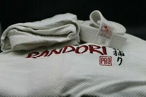 Judoanzug Radnori Pro weiß Gr. 160 Jacke und Hose mit weißem Gürtel