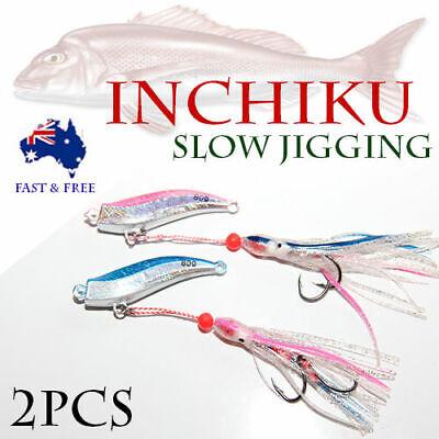 3X 80g Inchiku Jig Micro Octo Jigs Fishing Lure Jigging Ship Snapper King Slow