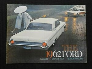 """""""THE 1962 FORD GALAXIE 500 STATION WAGONS"""" CATALOG SALES BROCHURE 23 Pages NICE"""