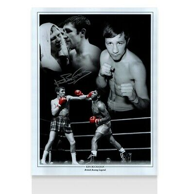 British Boxing Legend Ken Buchanan Autograph 41x30cm Signed Photograph
