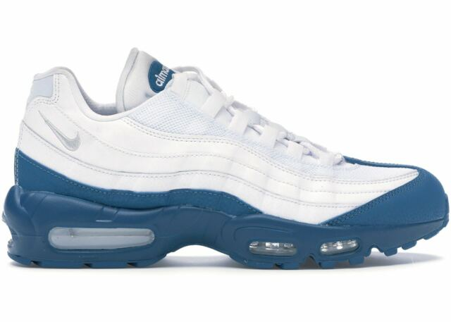 Nike Air Max 95 Essential White Platinum Dark Teal Abyss 749766 113 Men 11 Shoes