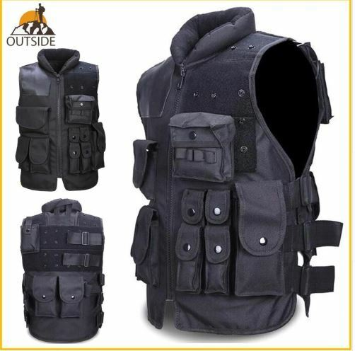 Tactical Vest Mens Military Hunting Vest Field Battle Airsoft Molle Waistcoat