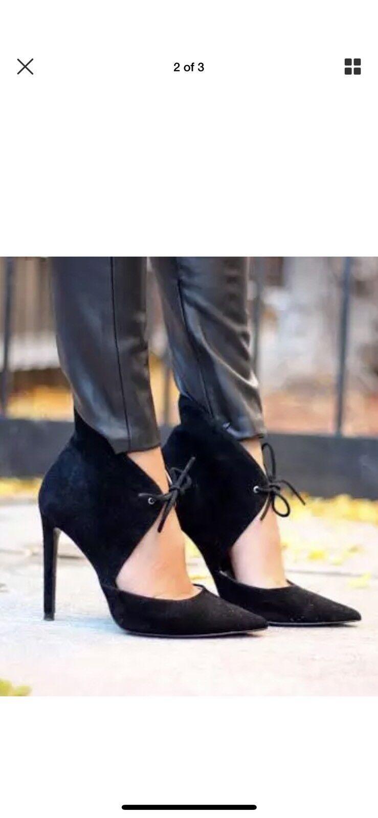 Grandes zapatos con descuento Zara Black Suede Ankle/heel Boot Size 6 RARE