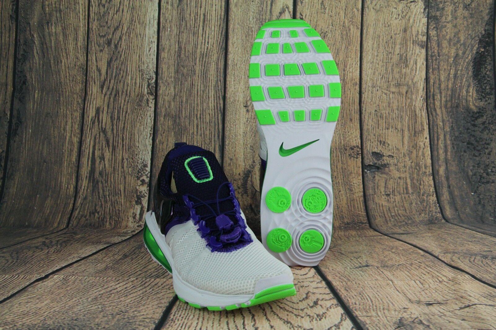 Nike shox schwere turnschuhe, weiße fusion violet violet violet wut grüne aq8554-105 frauen sz eba374