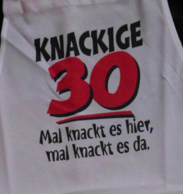 knackig 30 Schürze für Erwachsene Geburtstag Scherzartikel Grill Koch Gag
