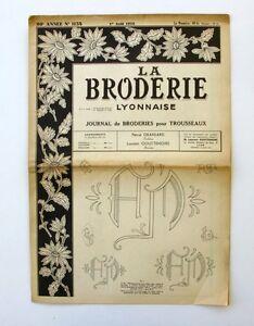 La Broderie Lyonnaise N°1158 - 1958 - Broderies Pour Trousseaux - Alphabet - Dljrozbl-07155432-542902102