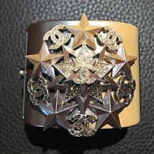 Rare CHANEL 6 CC LE Pave Swarovski Crystals Stars Gradient Cuff Bracelet Bangle