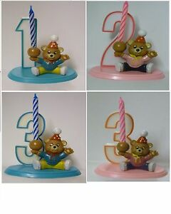 Image Is Loading TEDDY Age PARTY DECORATION SET Birthday Cake Candle