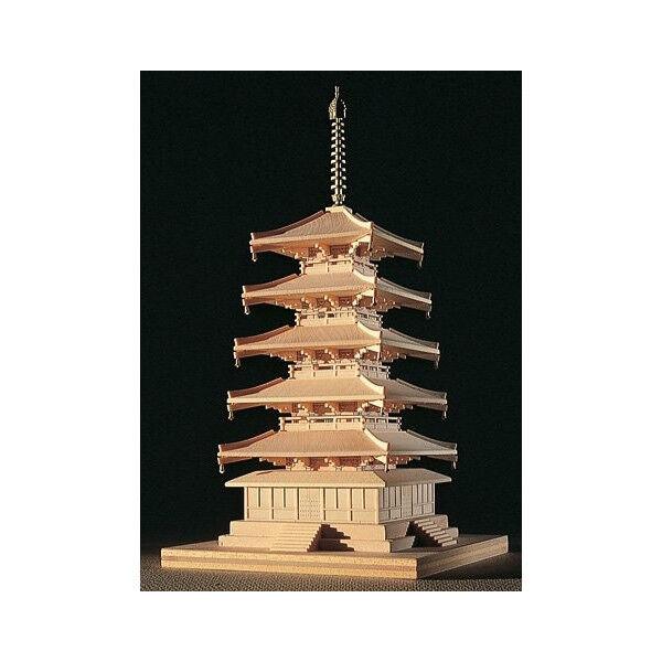 Woody JOE 1 150 Wooden Model Kit Horyu-ji Five-Story Pagoda Brand New from Japan