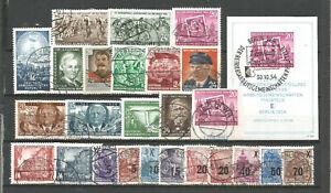 DDR-1954-timbrato-COMPLETO-ANNATA-blocco-blocco-marchio