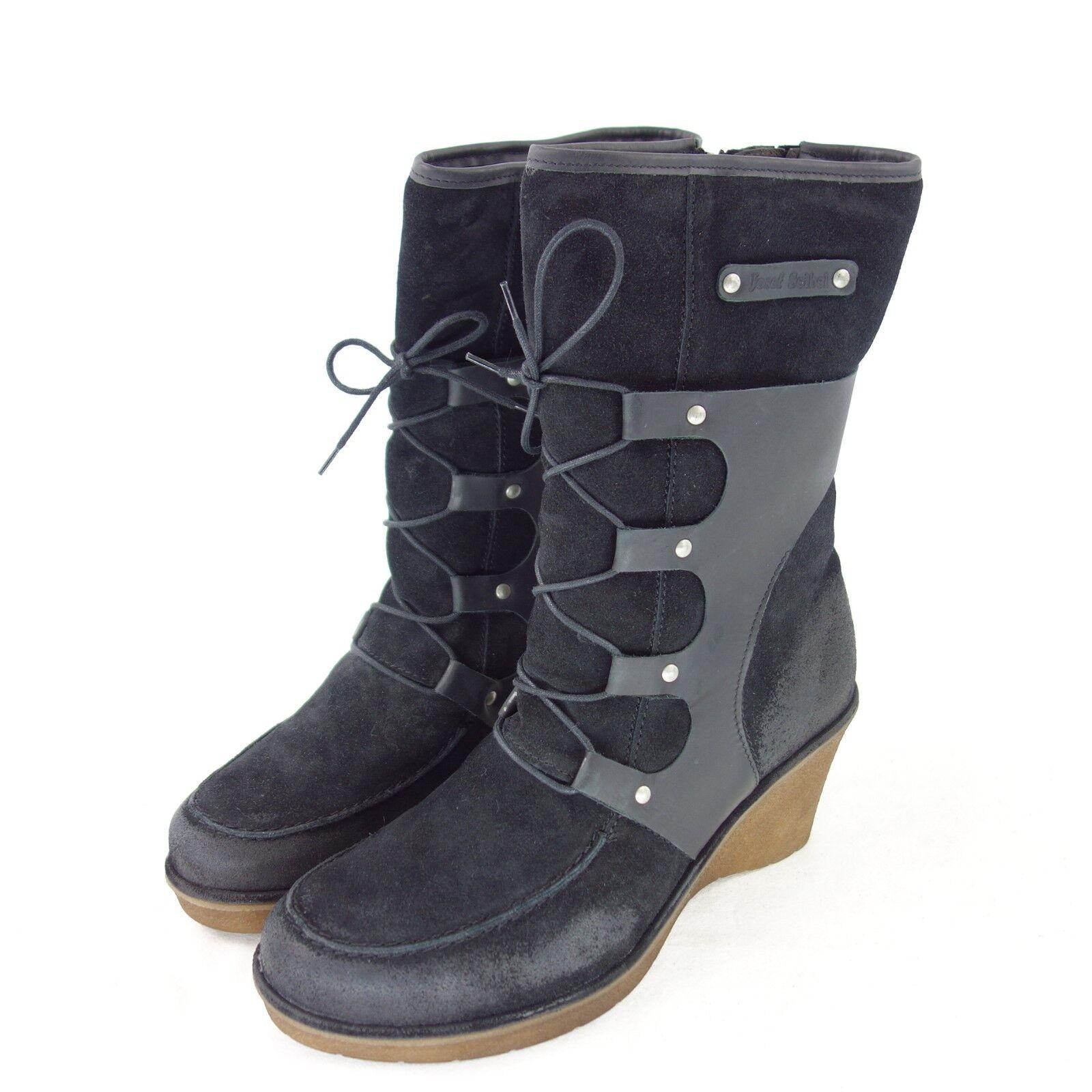 JOSEPH SEIBEL Damen Stiefeletten Stiefel Schuhe NP Gr 41 Leder Schwarz NP Schuhe 126 NEU 509e99