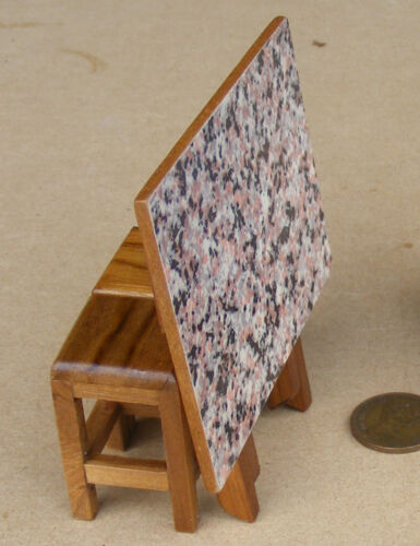 1:12 Scale Wooden Folding Table /& 2 Stools With Food /& Drink Tumdee Dolls House