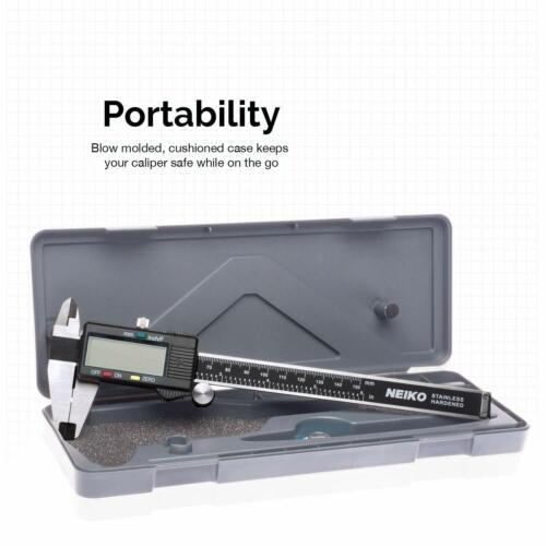 Calibrador Digital Electronico Acero Inoxidable 0-6 Inches Regla Digital LCD