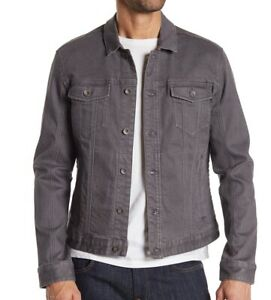 John-Varvatos-Star-USA-Men-039-s-Long-Sleeve-Denim-Trucker-Button-Jean-Jacket-Grey