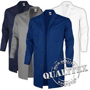 QUALITEX-Berufsmantel-Arbeitskittel-Kittel-Laborkittel-Schutzmantel-Baumwolle
