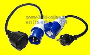 2 x adapter cee 230v schuko kabel camping stromadapter wohnmobil boot wohnwagen ebay. Black Bedroom Furniture Sets. Home Design Ideas