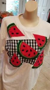IB Diffusion Applique Beaded Shirt Watermelon Design SM