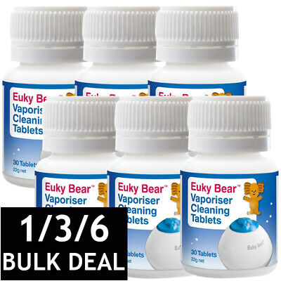 136 x EUKY BEAR STEAM CLEANING TABLETS VAPOR STEAMER CLEANER BULK 30 TABS | eBay