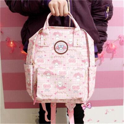 Japan Sanrio My Melody Girls Backpack Cute Bookbag Tote Waterproof Bag Xmas Gift