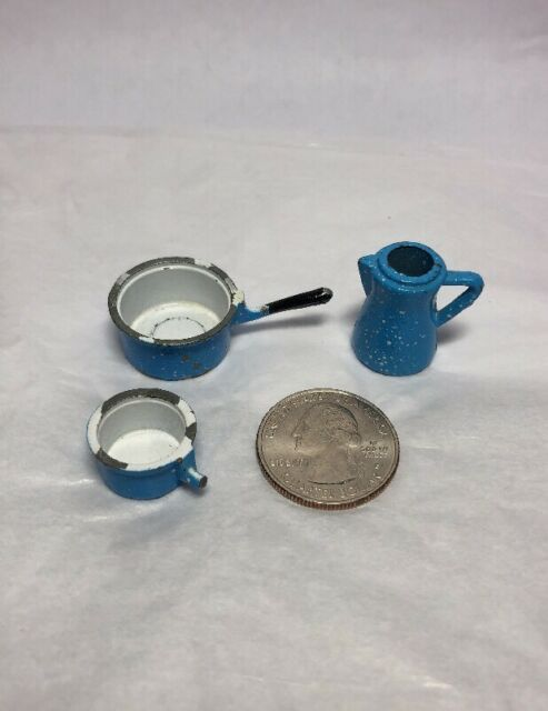 Square Dollhouse Miniature Unfinished Metal Casserole Dish