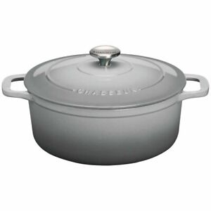 NEW Chasseur 28cm 6.1L Round French Oven Cookware Celestial Grey 20013