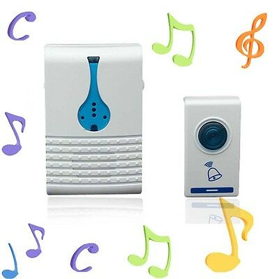 Wireless Home Door Bell Doorbell Receiver LED& Remote Control 32 Songs Melody BF