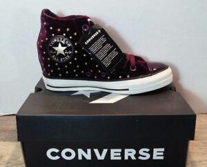 Converse CTAS Lux Mid Hidden Wedge Dark Sangria Black Turtledove ... 1a8607264
