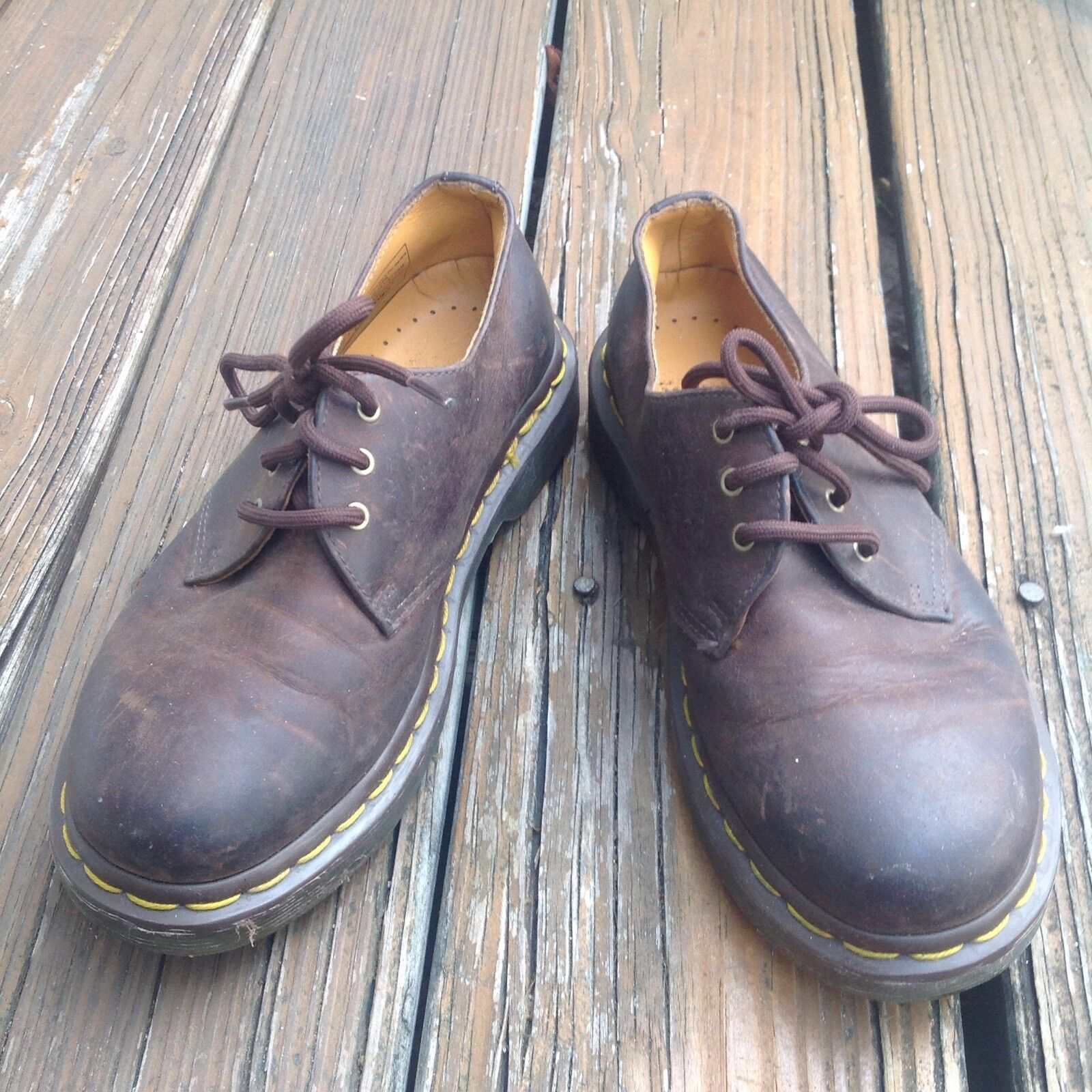 Dr Martens Docs Brown Oxford Leather shoes Mens 4 Womens 5 EUR 36 11838 3 Eye