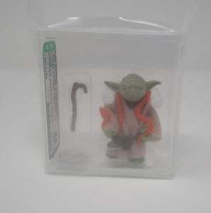 Yoda orange snake 1980 STAR WARS classés figurine Autorité 85 Near Comme neuf Hong Kong COO J1 NEW CASE