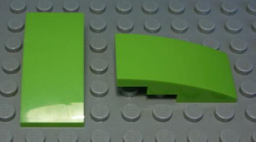 Lego Stein abgerundet 2x4 lime Hellgrün 2 Stück 1