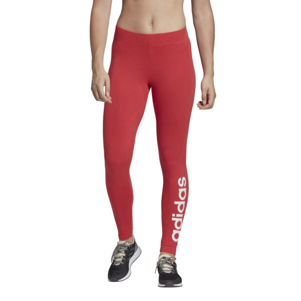 adidas core Damen Fitness Training Dance Tight Essentials Linear Tight glory red