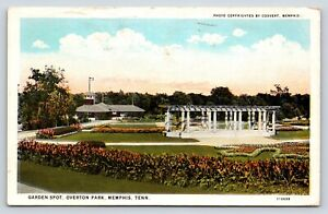 Garden-Spot-at-Overton-Park-in-Memphis-Tennessee-Early-Postcard