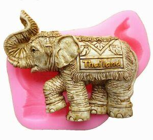 3D Elephant Silicone Cake Mould Mold Soap Fondant Baking Chocolate Ice DIY W