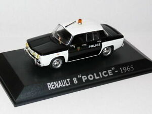 RE4E-Voiture-1-43-M6-norev-RENAULT-8-POLICE-pie-1965