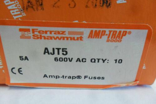New Lot Shawmut AJT5 Amp Fuses Bussmann LPJ 5SP Class J 600V NIB