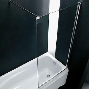 Sopravasca box parete in cristallo per vasca da bagno 80cm cristallo ...