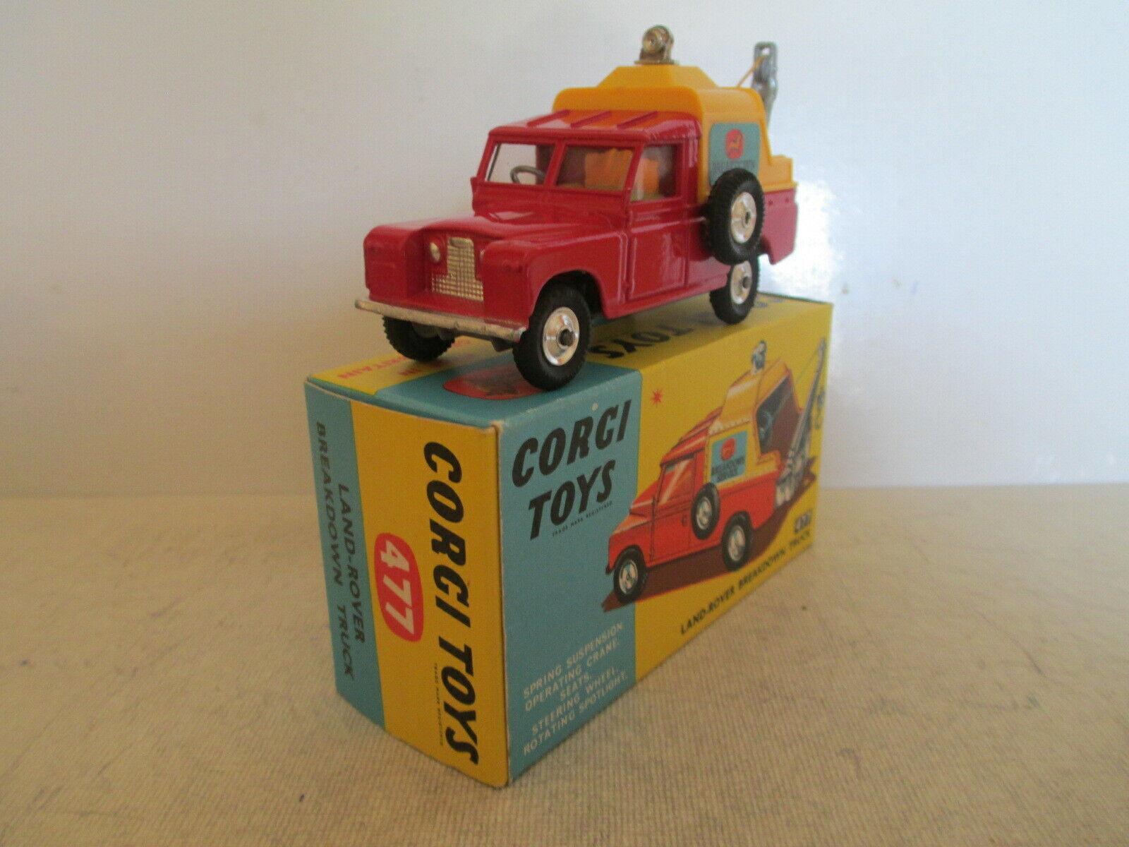 CORGI giocattoli 477 Le ROVER BREAKDOWN TRUCK MIB 9 EN BOITE VERY NICE L@@K