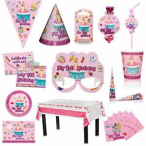 kindergeburtstag mottoparty prinzessin deko 1st geburtstag partydeko ebay. Black Bedroom Furniture Sets. Home Design Ideas
