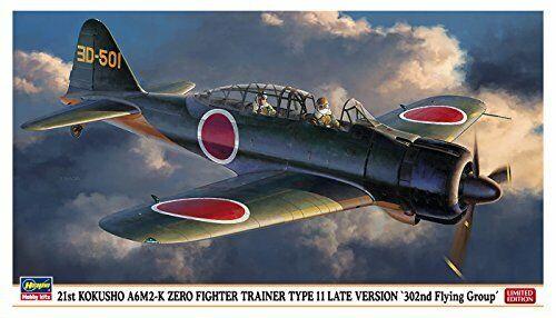 Hasegawa 21st Kokusho A6m2-k Zero Luchador Entrenador Tipo 11 Late Ver 302nd Sq
