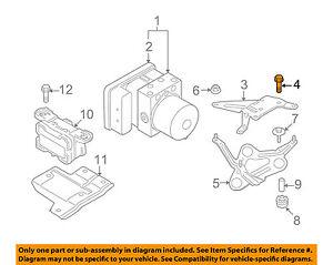 bmw oem 96 02 z3 abs anti lock brake system adapter bolt 07119904517 rh ebay com