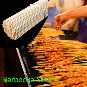 Cooking-Grill-Mats-Wooden-BBQ-Sticks-Bamboo-Skewers-Barbecue-Tools-Fruit-Sticks